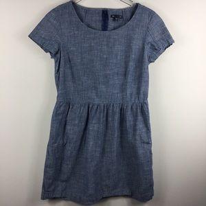 GAP denim chambray shortsleeve a-line dress. Small